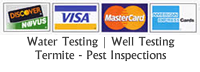 Pest and Termite Inspection Cost Credit Cards Accepted